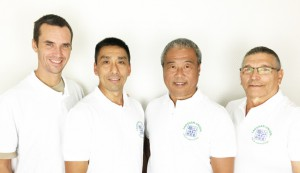 v.l.: Andreas Klier (Protokollführer), Tan Huck Gea (2. Vorsitzender), Sui QingBo (1. Vorsitzender), Heinz Riedel (Schatzmeister)